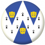 Shropshire Council Flag 58mm Button Badge